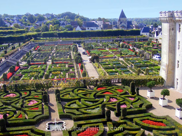 Villandry Chateau has one of the most famous gardens in France. Tour the Loire Valley with Loire Valley Time Travel