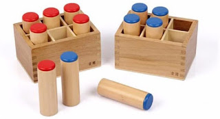 Bentuk dari sound cylinders Montessori