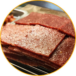 Processing Ground beef jerky Meat is cleaned and then ground Spices mashed and mixed with ground beef, dried in the sun to dry. Drying can also use the oven Once dry, packaged and labeled Jerky needs to be fried or steamed first when it is to be eaten.