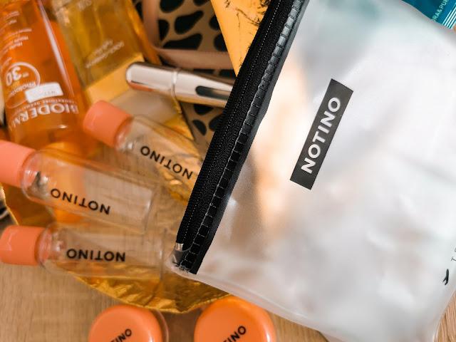Notino travel uzatvárateľný obal na kozmetiku do lietadla