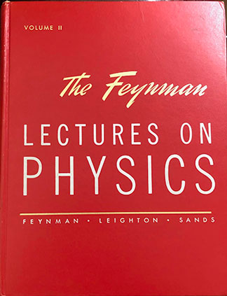 "Feynman's classic red book series (Source: R. Feynman, ""Lectures on Physics)"
