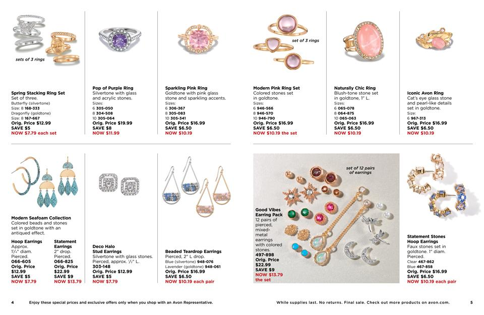 AVON GOOD BUYS - ALL SALES ARE FINAL!