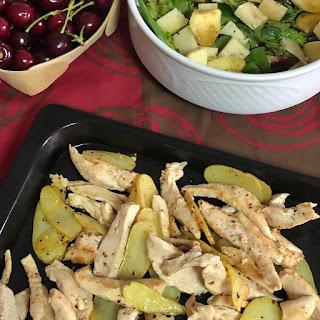 pollo-patatas-ensalada-cerezas