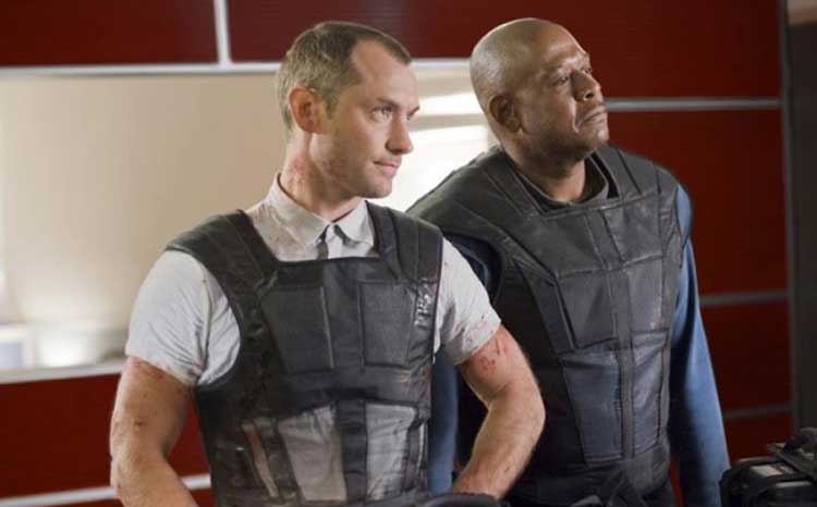 Jude Law and Forrest Whitaker prepare for their brutal jobs in Repo Men.
