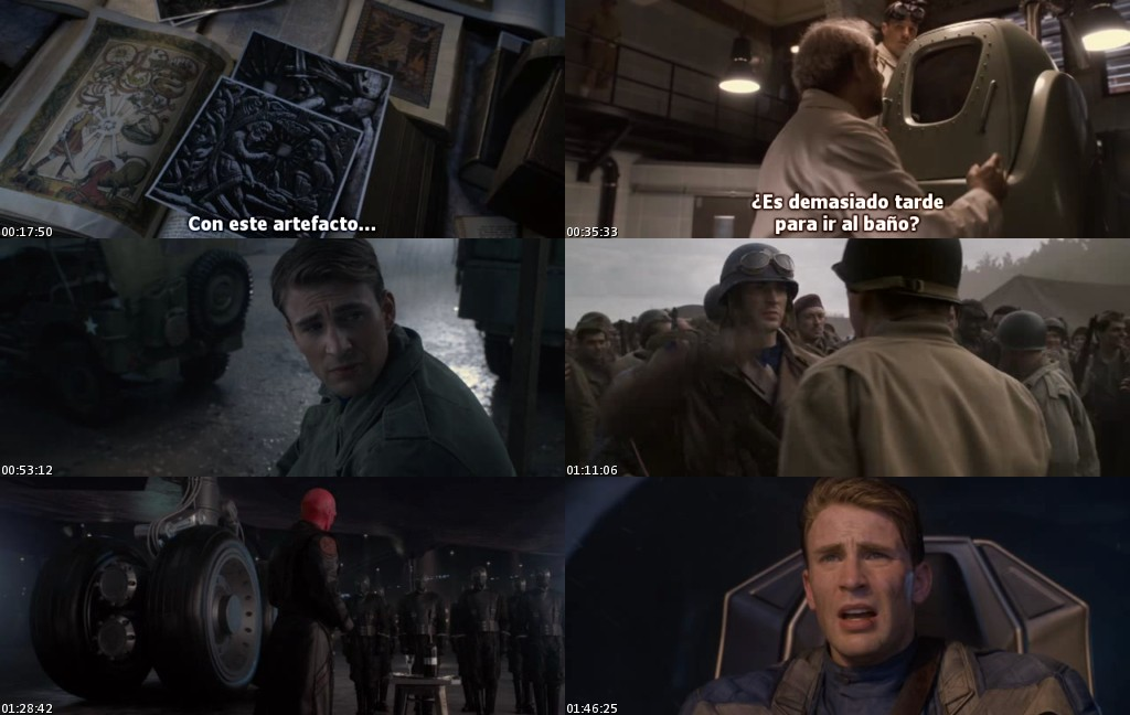 Capitan America: El primer vengador (2011) [DVDRip] [Sub. Español]