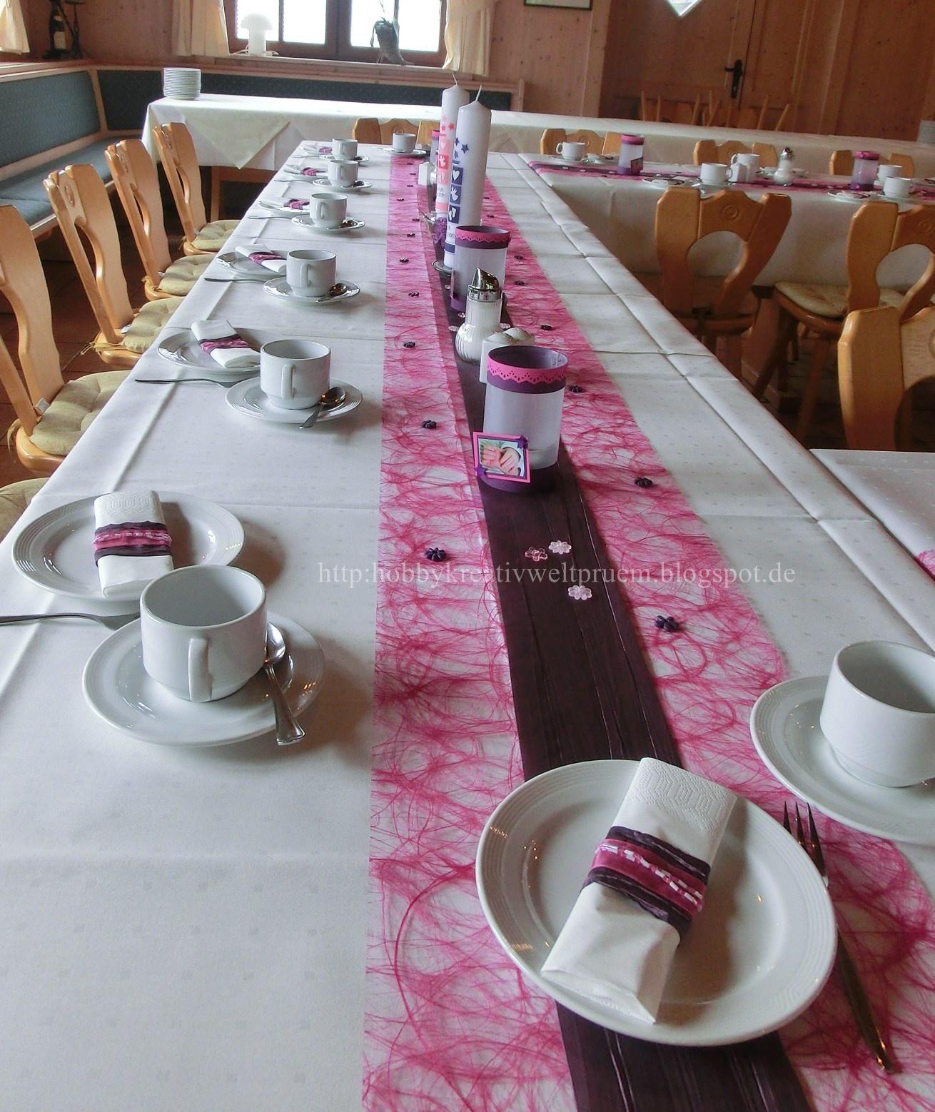 Hobby Kreativ Welt Tischdekoration zur Taufe
