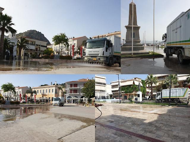 Παρεμβάσεις καθαριότητας στο Δήμο Ναυπλιέων