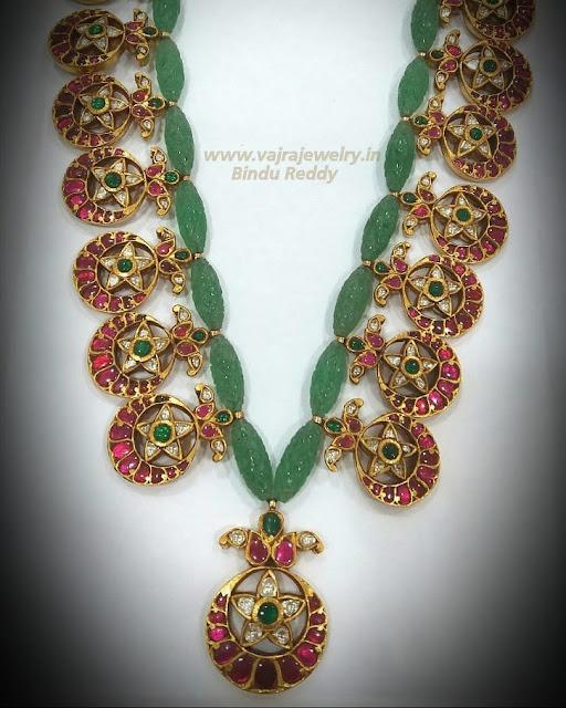Bottu Mala with Emerald Beads