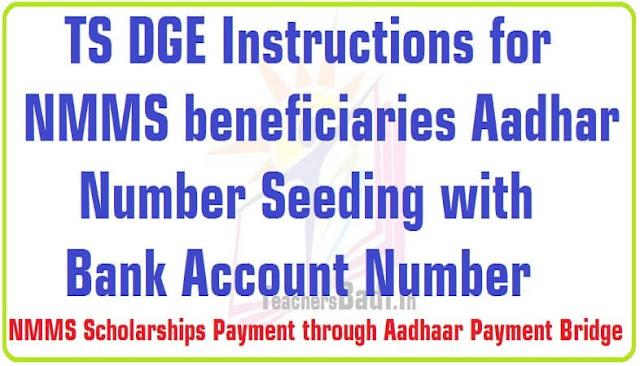 NMMS Scholarships,Payment,Aadhaar Payment Bridge