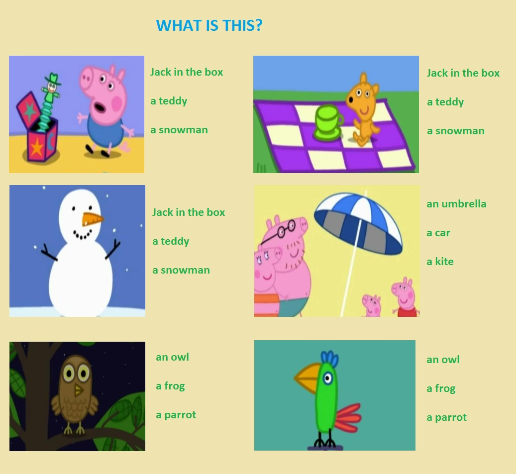 English Exercises For Kids
