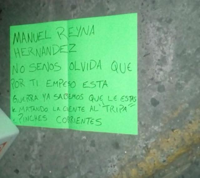 En pleno centro de Guadalajara dejan cabeza humana junto a cartulina y mensaje
