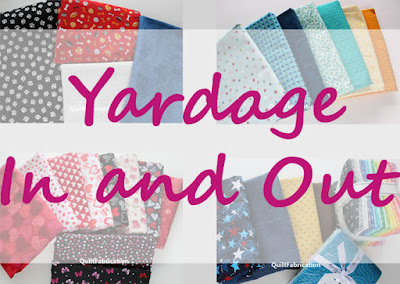 yardage in and out sign on fabric yards