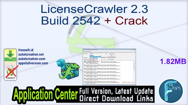 LicenseCrawler 2.3 Build 2542 + Crack