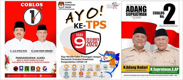 """Pilkada Pangandaran 2020: """"Pilihlah salah satu calon dari dua pasangan calon terbaik untukmu."""""""