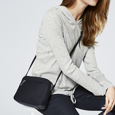 The White Company The Double Zip Crossbody