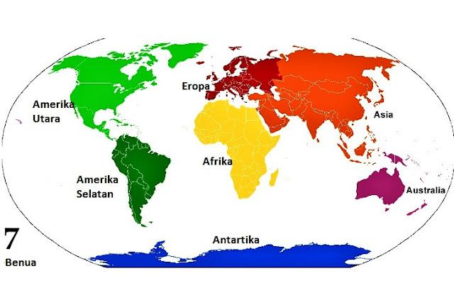 Gambar Sebaran Benua Peta Dunia