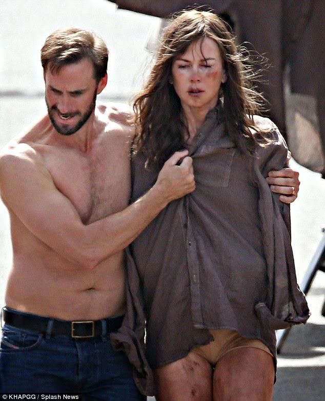 Nicole Kidman stripped to her underwear for Strangerland