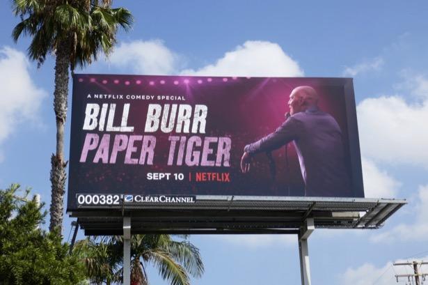 Bill Burr Paper Tiger billboard