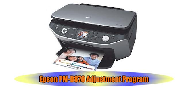 Epson PM-D870 Printer Adjustment Program