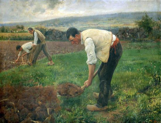 La tierra, Laureano Barrau Buñol, Pintor Catalán, Pintor español, Cuadros de Laureano Barrau Buñol, Barrau Buñol, Laureano Barrau