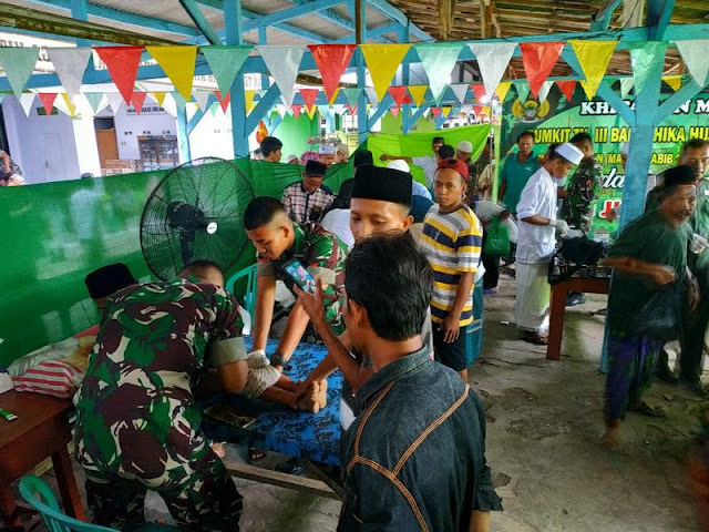 Peduli Dhuafa, Yonif Raider 515 Kostrad Gelar Khitanan Massal