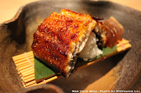 Unagi Kabayaki with Narazuke Japanese Pickle Marinaded in Sake for 2 Years at NAOE