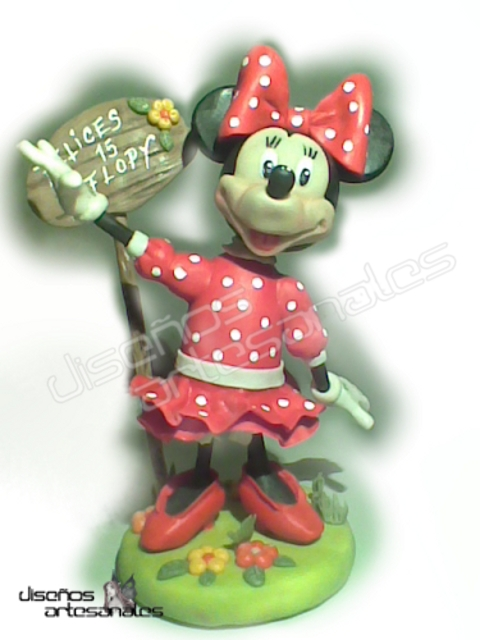 minnie mouse porcelana fría