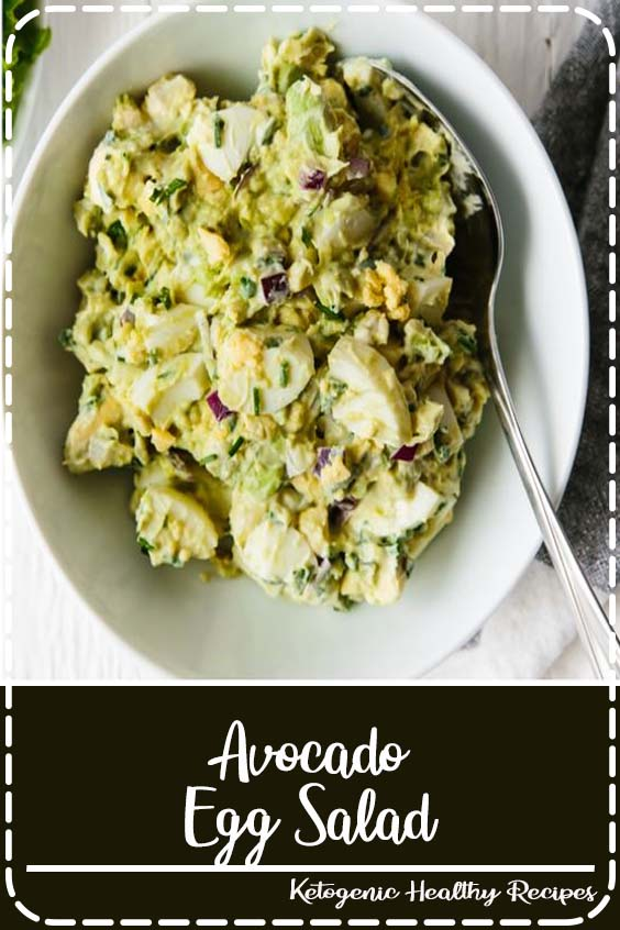 This avocado egg salad takes your classic egg salad recipe and adds healthy avocado for a creamy, nutritious and tasty new avocado egg salad recipe you're sure to love. It's a delicious paleo, keto and whole30 recipe. #avocadoeggsalad #eggsalad#whole30recipes #ketorecipes