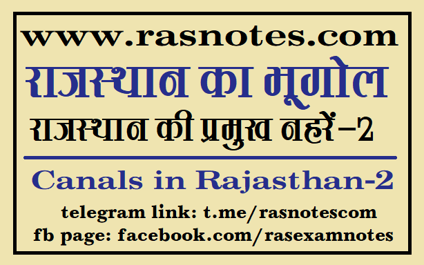 Geography of Rajsthan Notes-Dams in rajasthan
