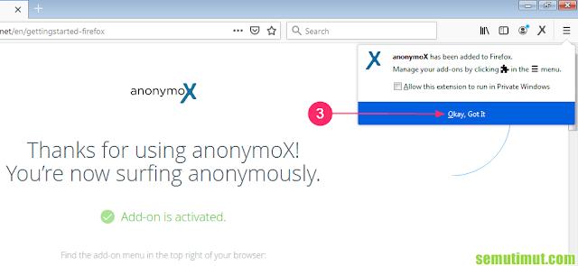 cara menambahkan anonymox pada mozilla firefox