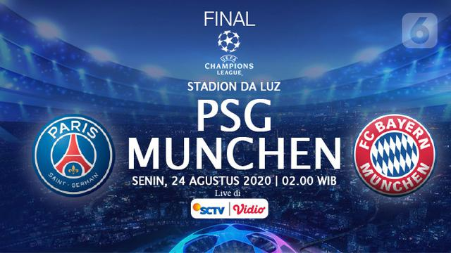 Jadwal Final Liga Champions PSG vs Bayern Munich