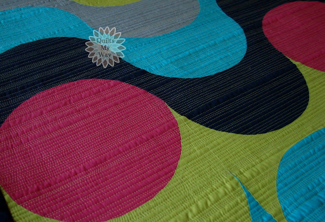 Inspiration blog post series - On the Wave quilt made by Gosia Pawlowska - Quilts My Way