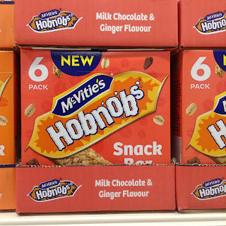 mcvitie's hobnobs milk chocolate and ginger flavour snack bars