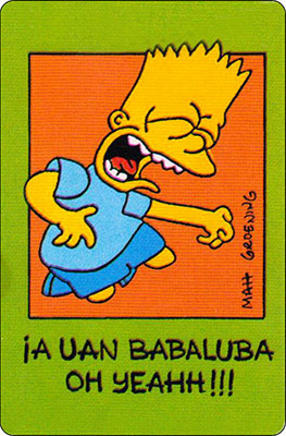 Bollycao The Simpsons Cromo 1
