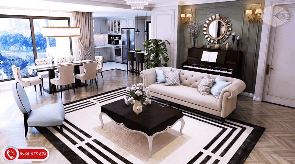Mẫu thiết kế căn hộ 4 phòng ngủ của Amber Riverside