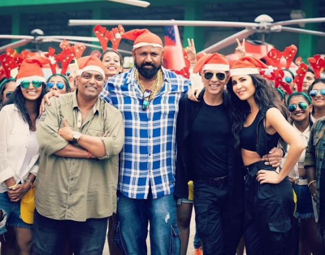 Akshay Kumar and Katrina Kaif at an event for Sooryavanshi (2021)