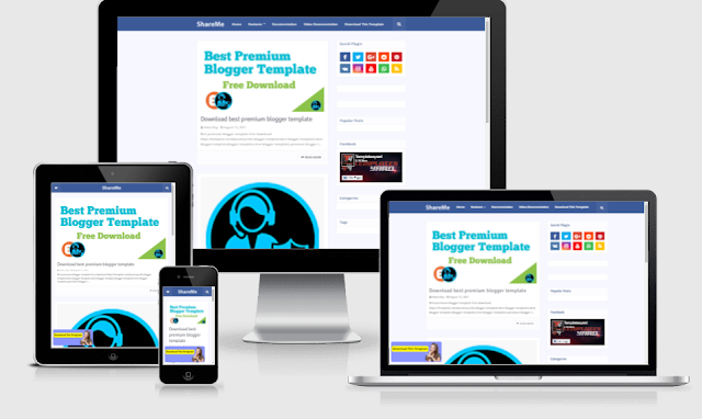 ShareMe blogger template free download