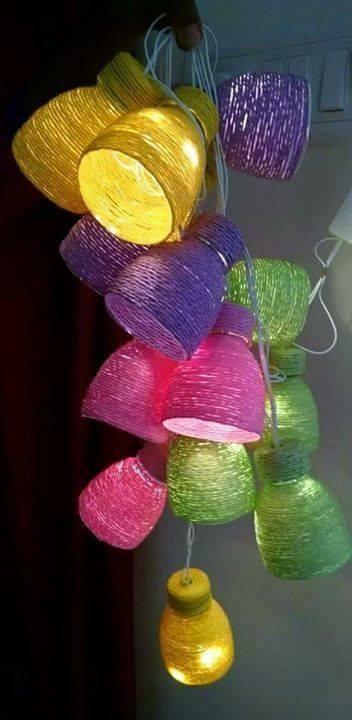 Luminária Reciclavel de Garrafa Pet