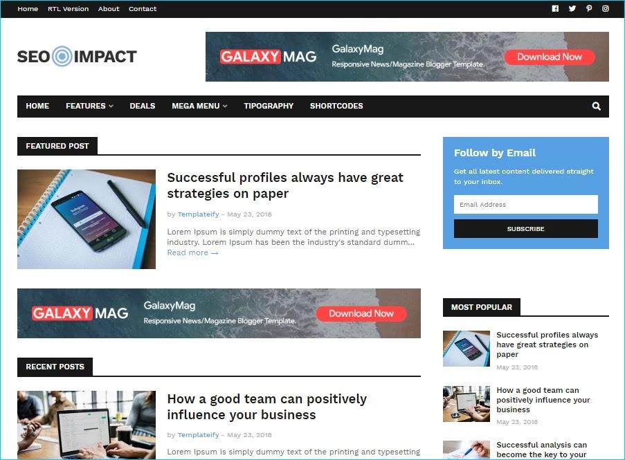 SEO Impact Blogger Template