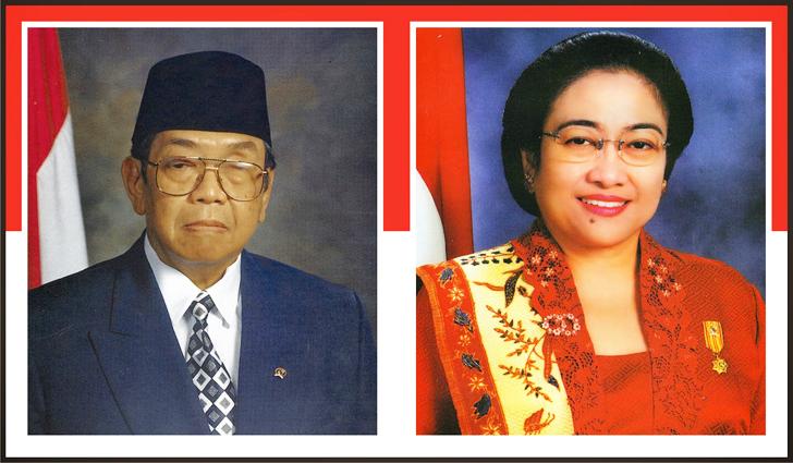 K.H. Abdurrahman Wahid dan Megawati Soekarnoputri
