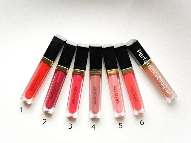 błyszczyki artistry light up lip gloss signature color opinie