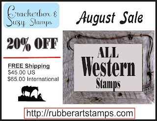 Shop Crackerbox & Suzy Stamp's Western Section during the month of August for 20% off!!