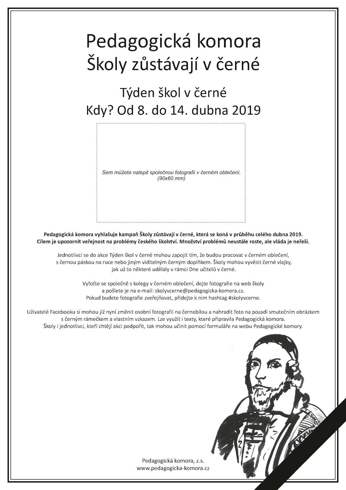 796f0e15dfc1 Pedagogicke.info  Začala akce Pedagogické komory Týden škol v černé