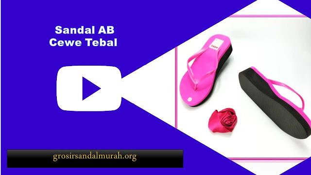 grosirsandalmurah.org - Wedges - AB Cewe Tebal