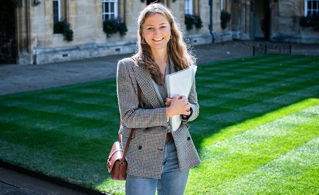 Crown Princess Elisabeth of Belgium started her university education at Oxford University's Lincoln College