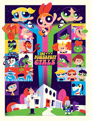 The Powerpuff Girls Screen Print by Dave Perillo x Mondo
