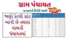 Gujarat Gram Panchayat work Report 2020 - 2021 Full Details Open