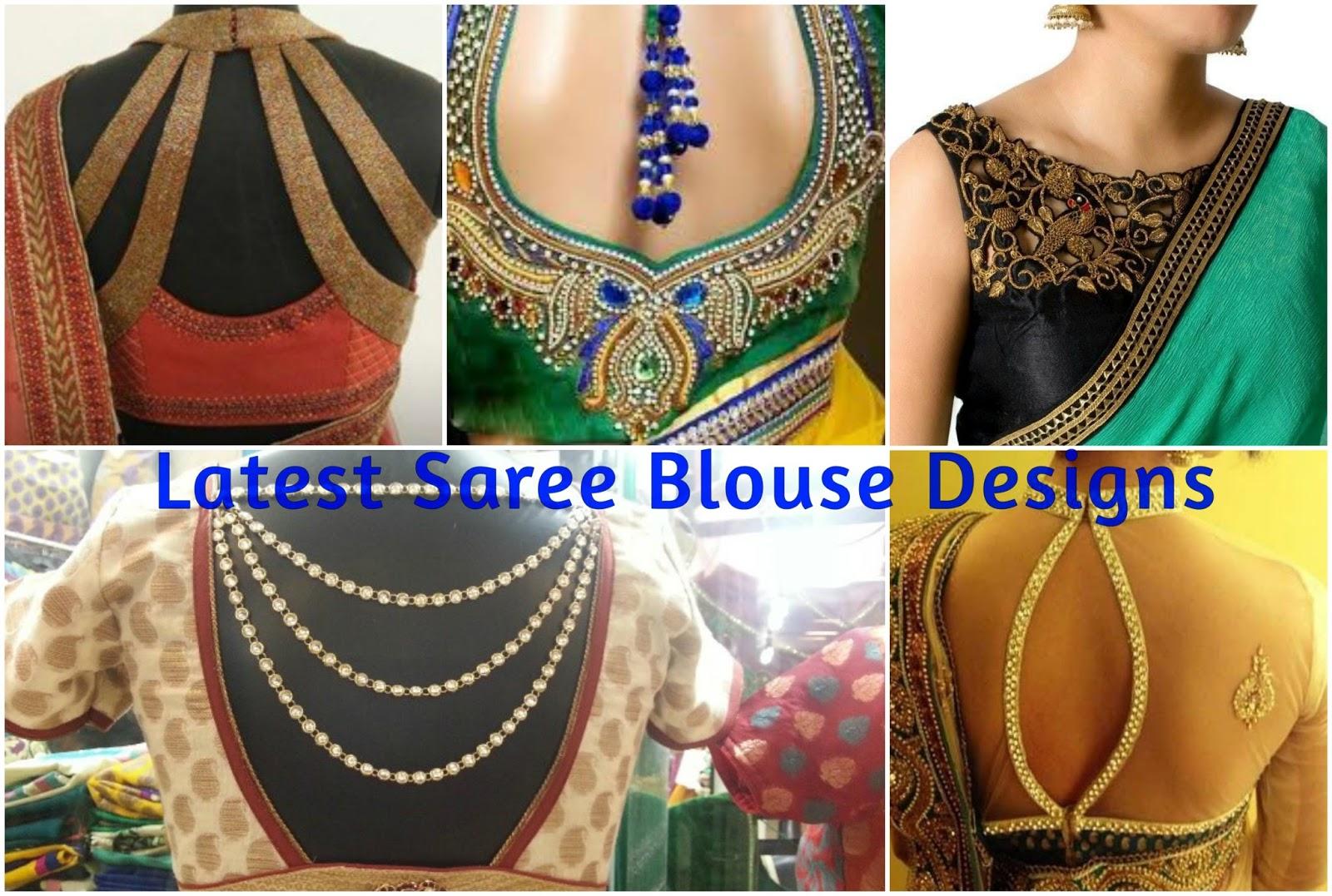 8 Modern Saree Blouse Designs | Ashion Fashion