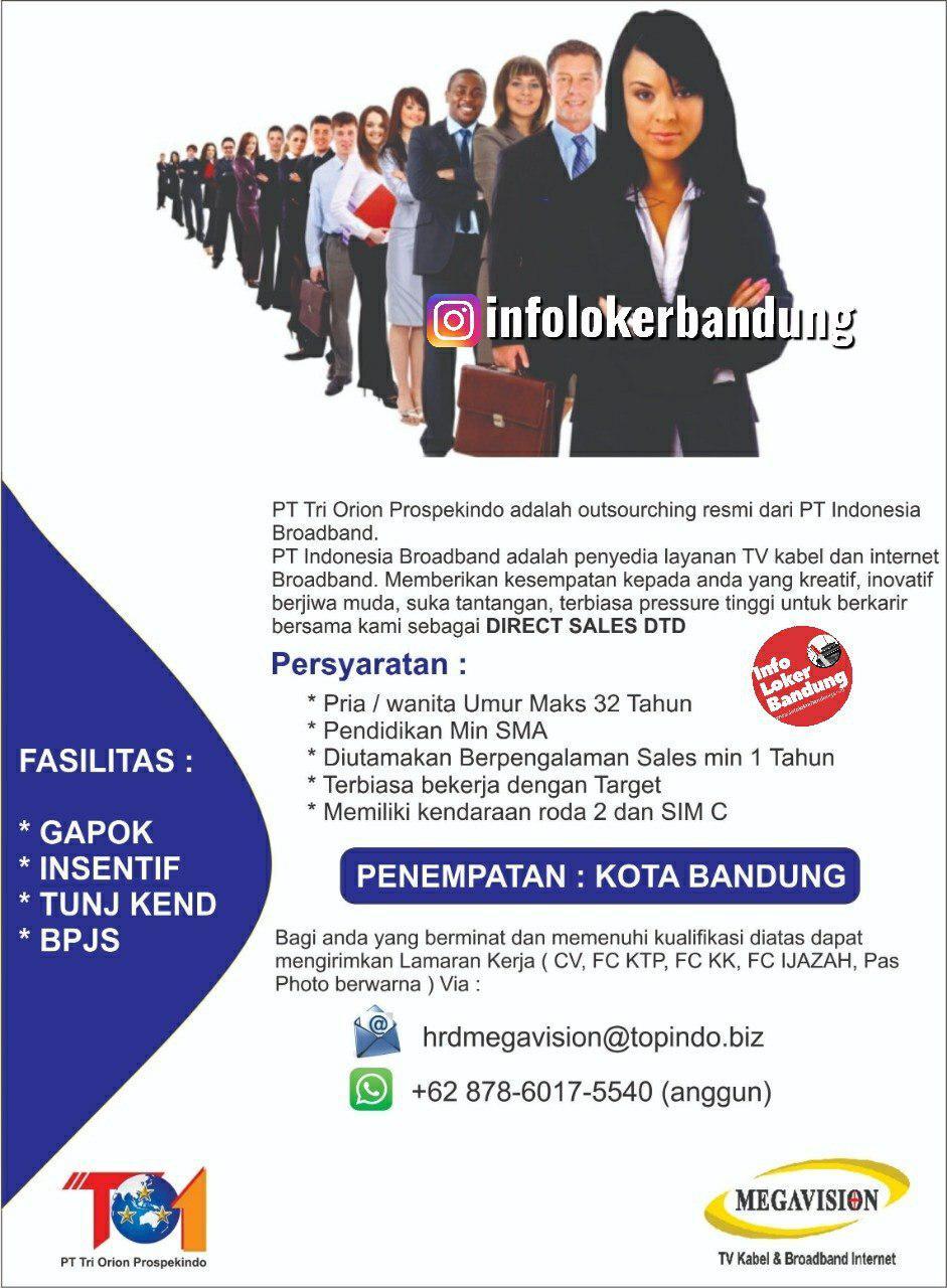 Lowongan Kerja PT. Tri Orion Prospekindo Bandung September 2019