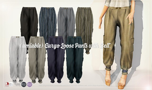 {amiable}Cargo Loose Pants with Belt@ACCESS(50%OFF SALE).